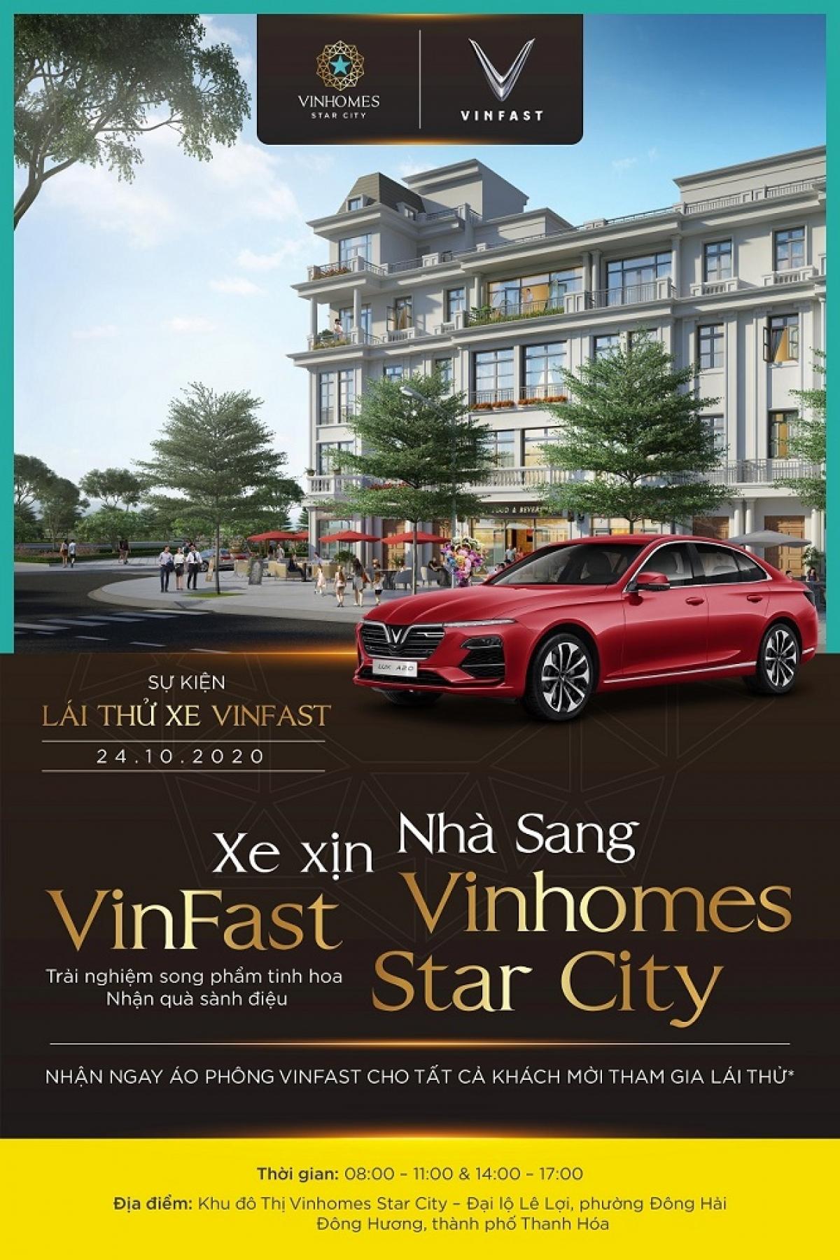 Sự kiện lái thử xe VinFast tổ chức tại khu đô thị Vinhomes Star City Thanh Hóa