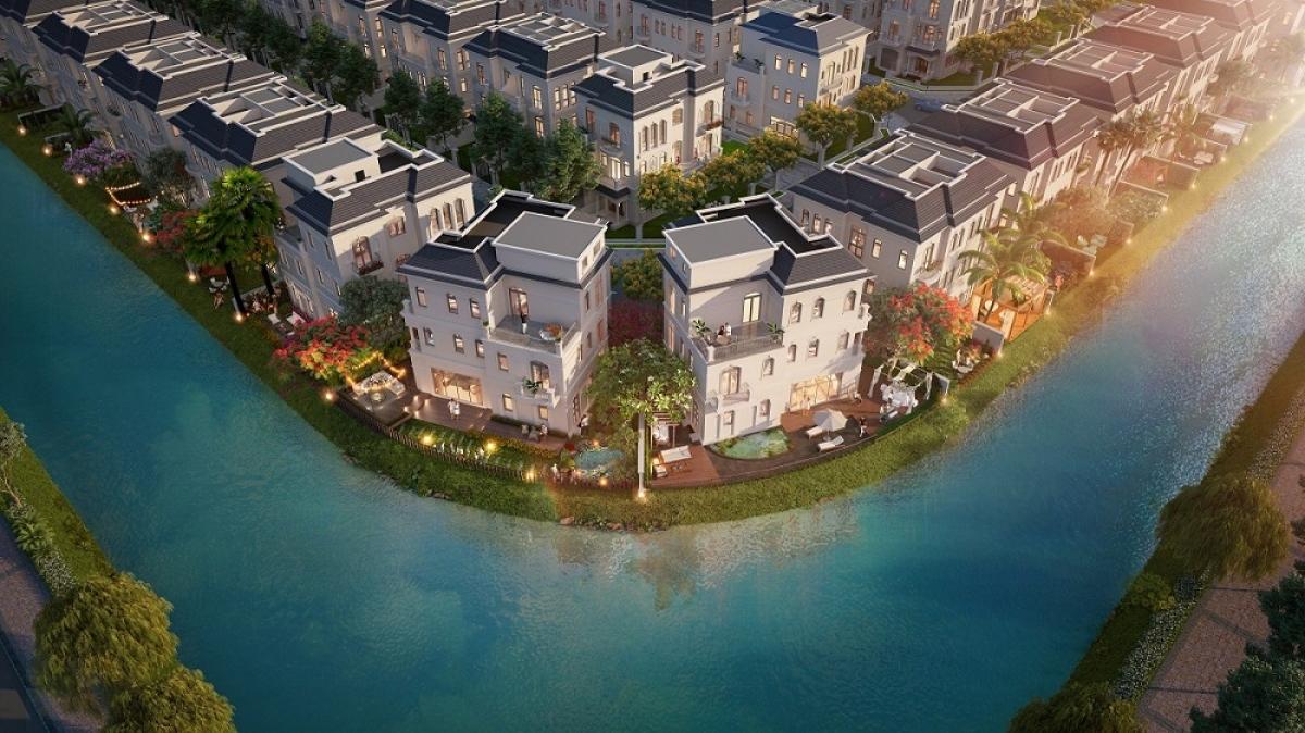 Phân khu The Legend Palace – biệt thự vịnh đảo trong lòng châu Âu thu nhỏ (Hình ảnh minh họa: Việc vận hành Khu đô thị theo quy định của BQL tại từng thời điểm)