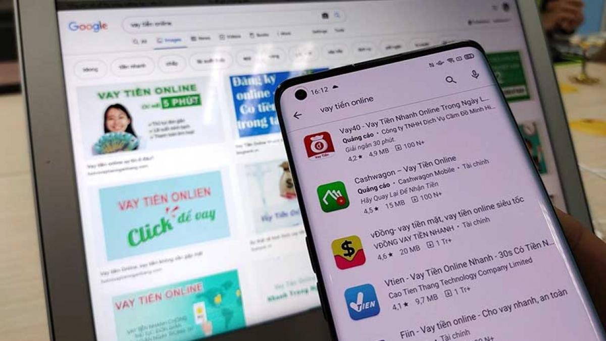 Nhiều app cho vay biến tướng, trở thành một dạng của tín dụng đen, kéo theo nhiều hệ lụy khôn lường, ảnh hưởng đến an ninh, trật tự. Ảnh: Báo Lao động.