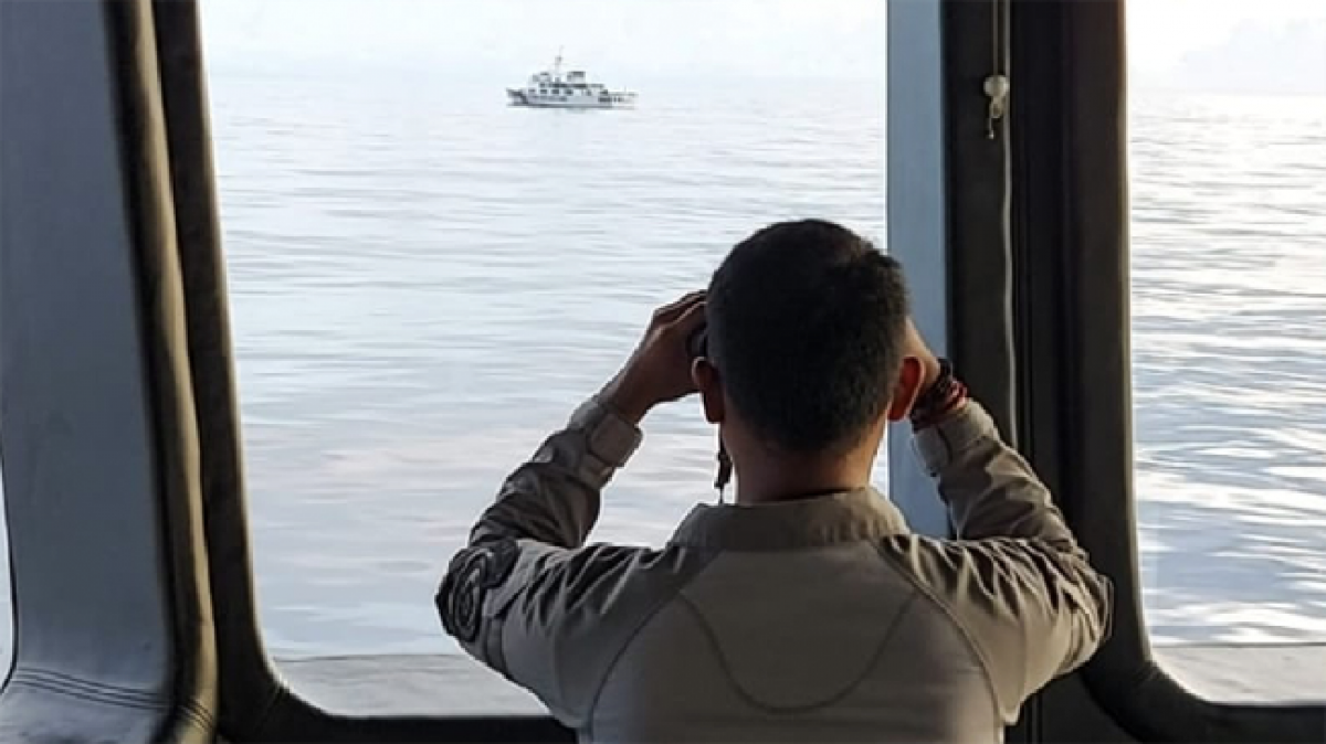 Cơ quan an ninh hàng hải Indonesia tăng cường tuần tra biển Bắc Natuna. (Nguồn: Bakamla).