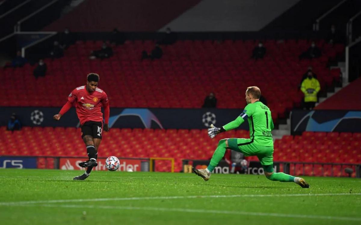 Rashford ghi 2 bàn thắng liên tiếp chỉ trong ít phút. (Ảnh: UEFA).