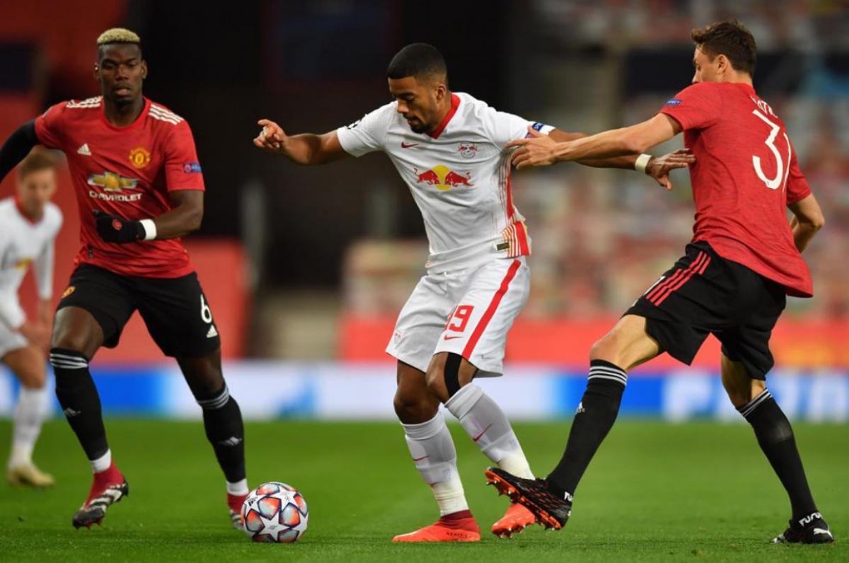 MU đang chơi tốt trước một Leipzig không hề dễ đối phó. (Ảnh: UEFA).