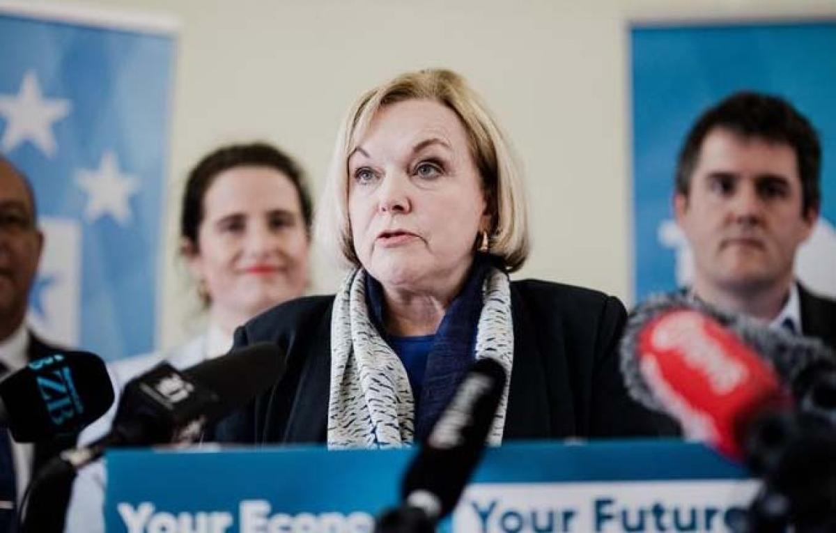 Bà Judith Collins, thủ lĩnh đảng Dân tộc đối lập, một ứng cử viên cho chiếc ghế Thủ tướng New Zealand. Nguồn: RNZ.