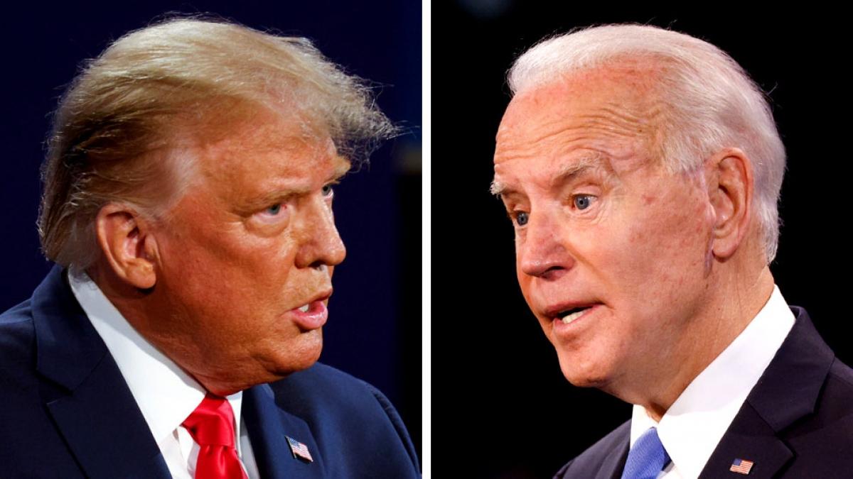 Tổng thống Trump và ứng cử viên Joe Biden. Ảnh: BBC.