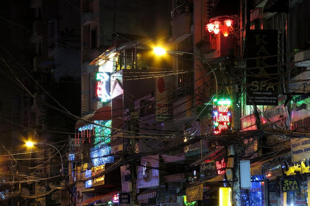 A night out on Bui Vien Walking Street in Ho Chi Minh City. The famous street is viewed as the place to go to enjoy wild parties, or just to people-watch. Indeed, 24 hours a day, 365 days a year, there is always something to see on this bar street.