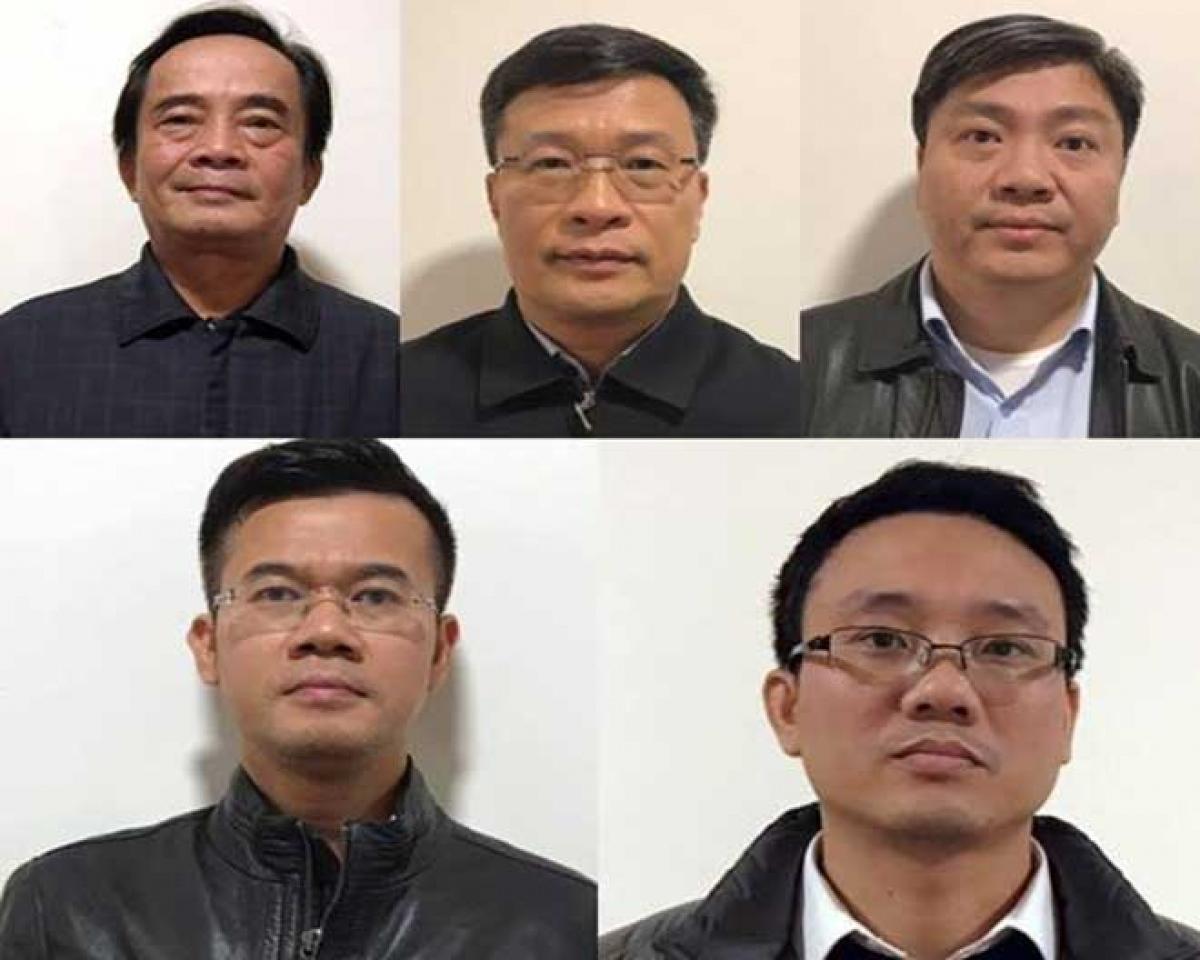 Các bị can: Đoàn Ánh Sáng, Ngô Duy Chính, Nguyễn Xuân Giáp, Phạm Hồng Quang, Đặng Thanh Nam.