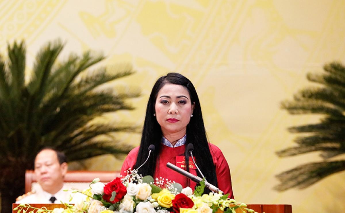 Bí thư Tỉnh ủy Vĩnh Phúc Hoàng Thị Thúy Lan phát biểu khai mạc Đại hội.