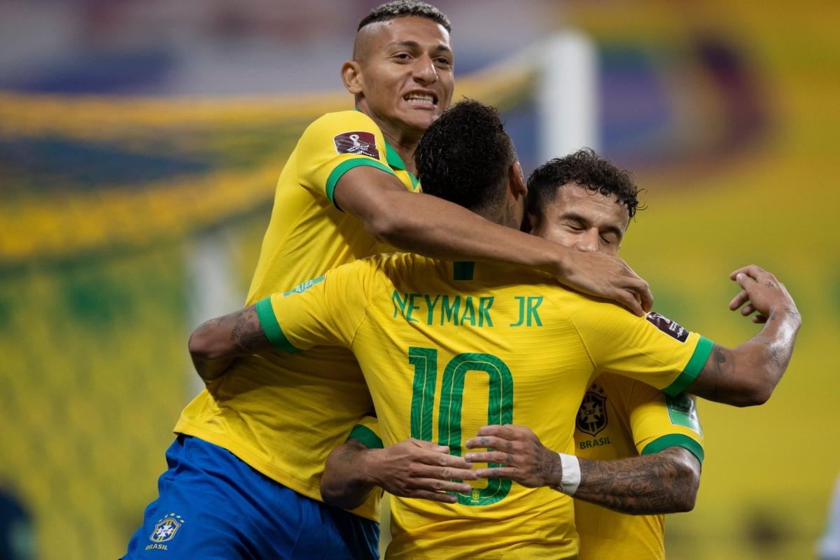 Brazil khởi đầu tưng bừng ở Vòng loại World Cup 2022 khu vực Nam Mỹ. (Ảnh: Getty)