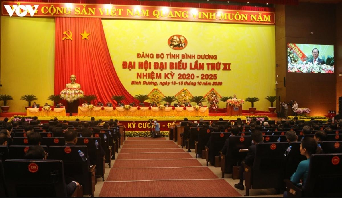 Toàn cảnh Đại hội Đảng bộ tỉnh Bình Dương.