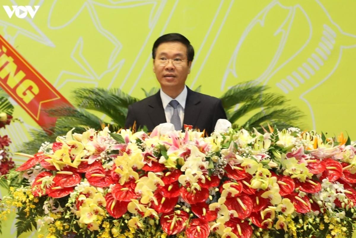 Trưởng ban Tuyên giáo Trung ương Võ Văn Thưởng dự và chỉ đạo Đại hội.