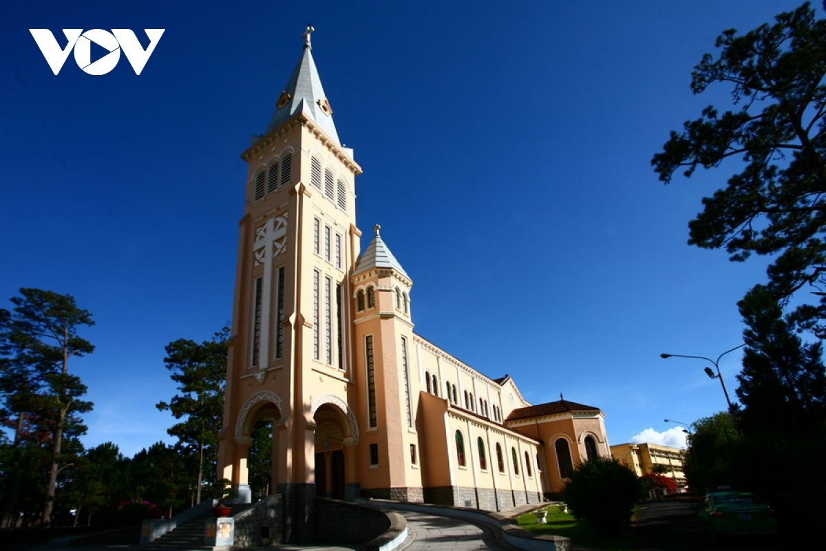 Da Lat Cathedral is also one of the leading tourist attractions in the city.