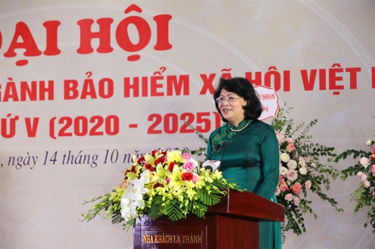 Phó Chủ tịch nước Đặng Thị Ngọc Thịnh phát biểu tại Đại hội