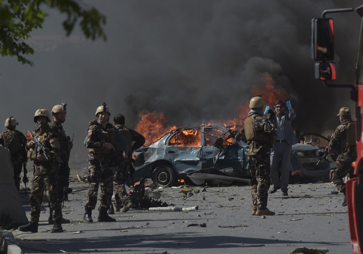Một vụ đánh bom ở Kabul. Ảnh: Getty