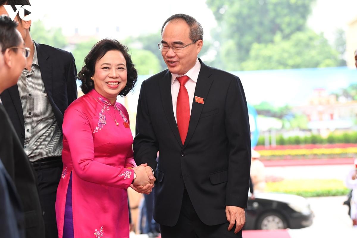 Ủy viên Bộ Chính trị,Bí thư Thành ủy TP HCM Nguyễn Thiện Nhân đến dự đại hội.