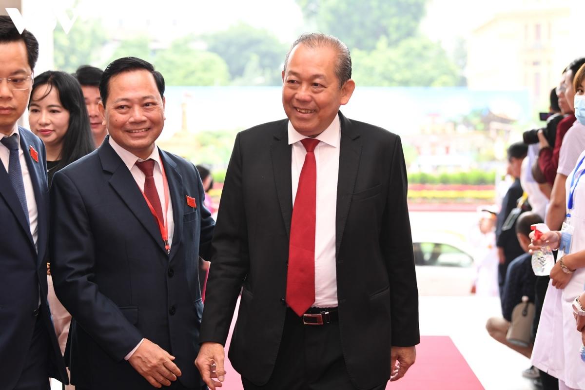 Ủy viên Bộ Chính trị, Phó Thủ tướng Thường trực Trương Hòa Bình dự đại hội.
