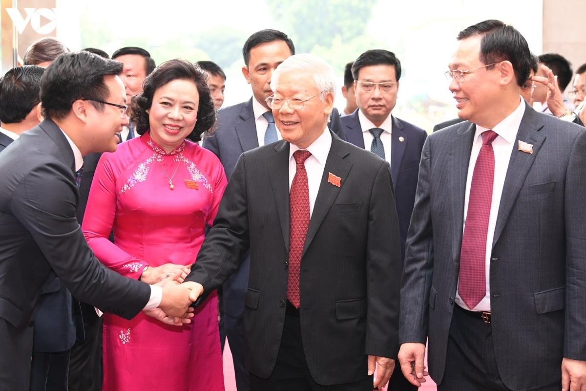 Sáng 12/10, Tổng Bí thư, Chủ tịch nước Nguyễn Phú Trọng đã đến dự và chỉ đạophiên khai mạc chính thức Đại hội khóa XVII Đảng bộ thành phố Hà Nội nhiệm kỳ 2020 – 2025. (Ảnh: Ngọc Thành)