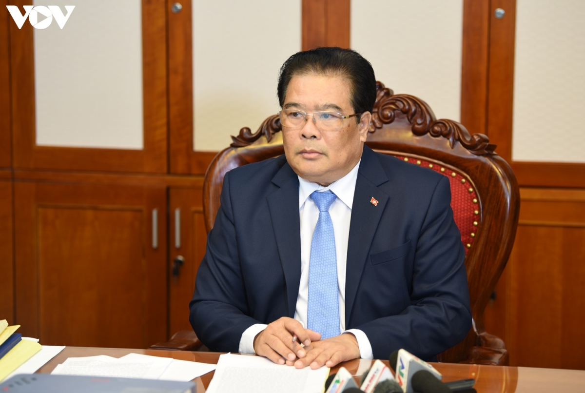 Bí thư Đảng ủy Khối các Cơ quan Trung ương - Sơn Minh Thắng. (Ảnh: Trọng Phú)