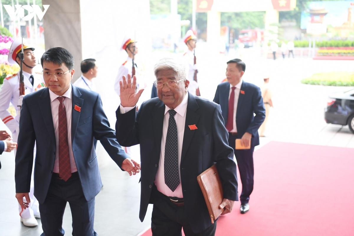 Nguyên Chủ tịch Ủy ban Trung ương Mặt trận Tổ quốc Việt Nam Phạm Thế Duyệt đến dự đại hội.