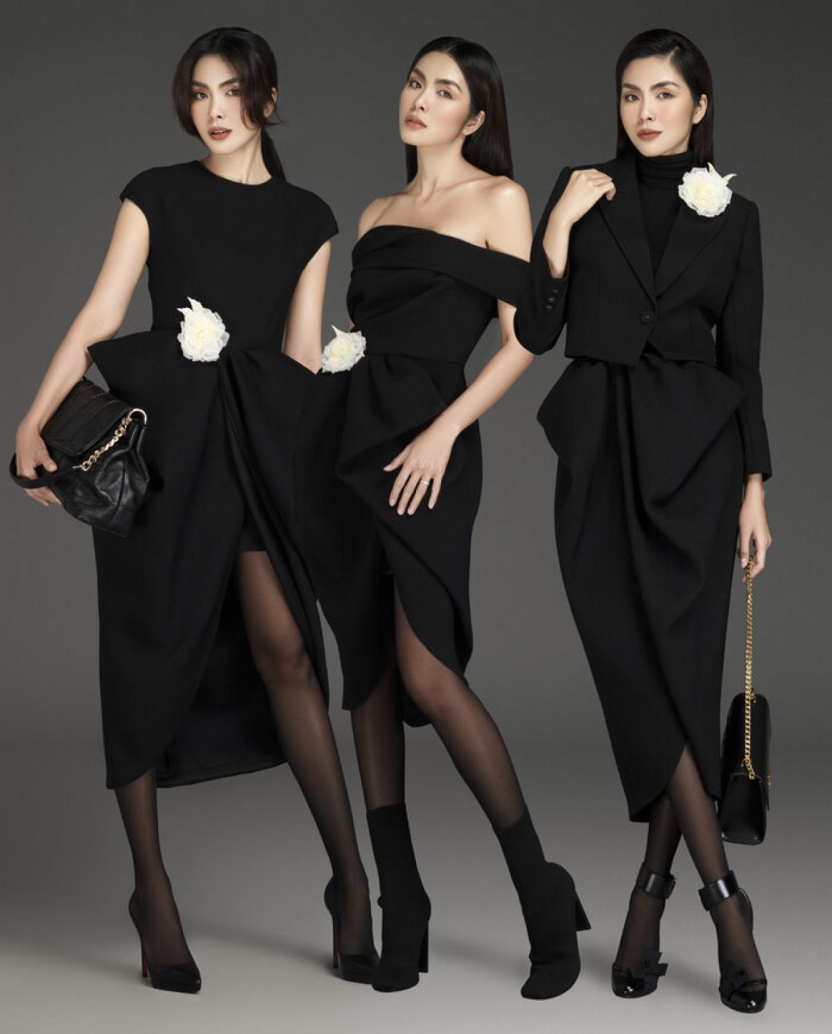 Tăng Thanh Hà biến hoá đa dạng với 3 phong cách khác biệt trong loạt thiết kế mới nhất của Đỗ Mạnh Cường.