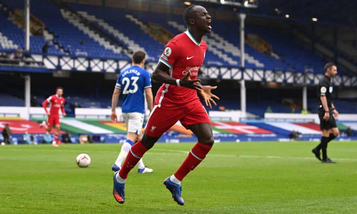 Sadio Mane ghi bàn nhanh nhất lịch sử derby Merseyside tại Premier League khi đồng hồ mới chỉ 2 phút 15 giây. (Ảnh: Getty)