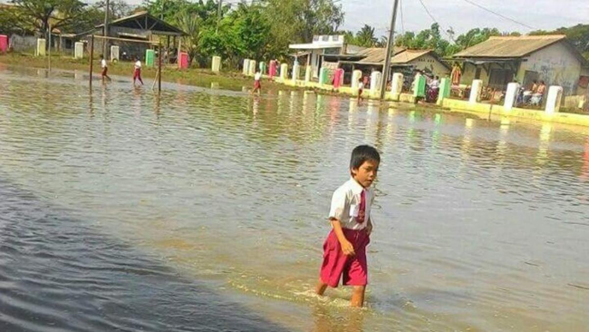 Triều cường tại Indonesia do những tác động của biến đổi khí hậu. (Ảnh: RB.com)