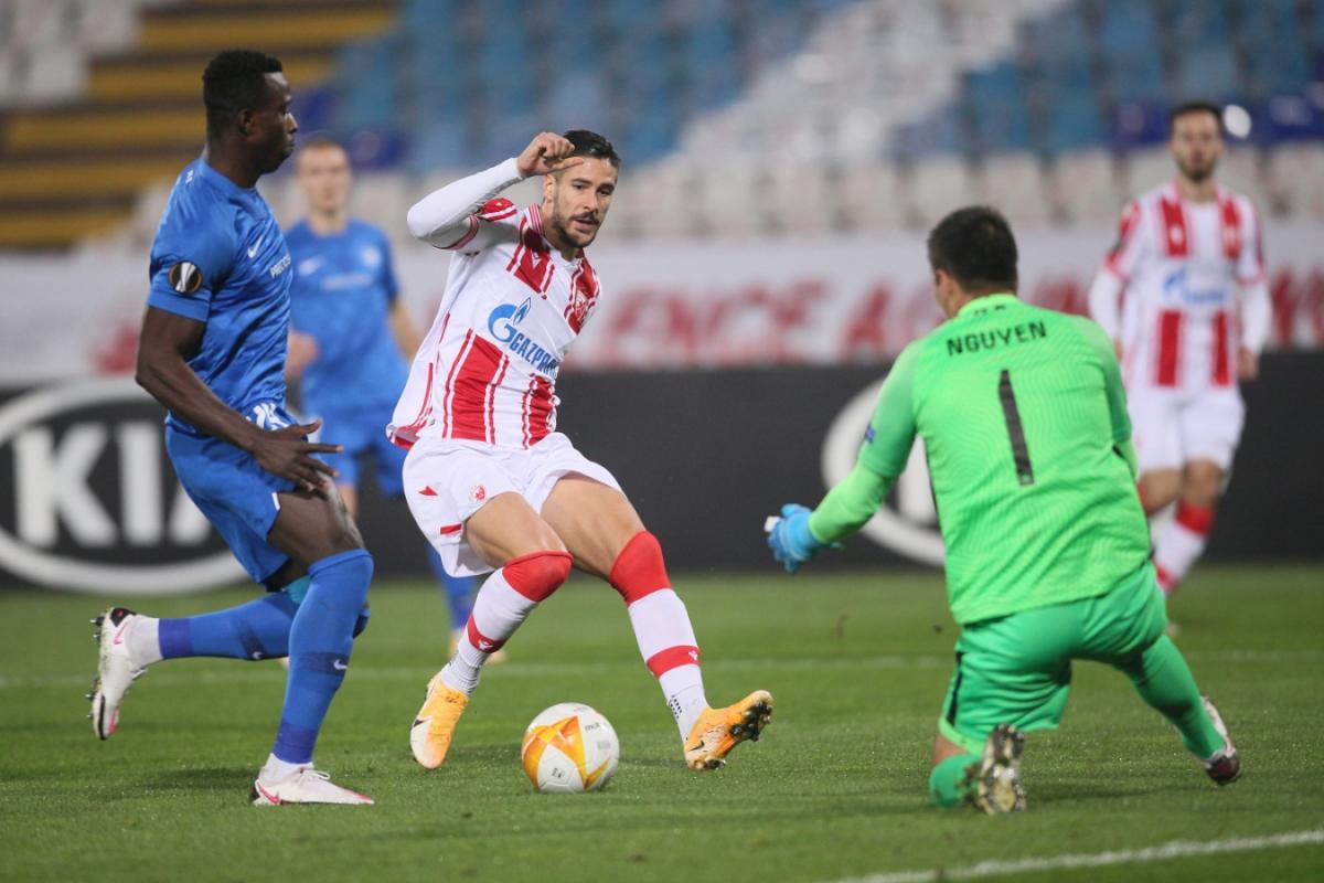 Filip Nguyễn phải nhận 5 bàn thua trước Crvena Zvezda. (Ảnh: Getty)