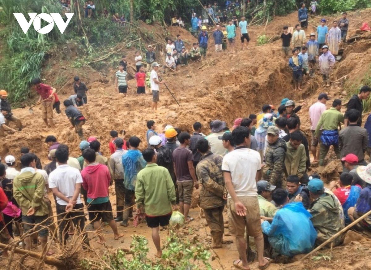 Hiện trường nơi 6 người trong gia đình bị vùi lấp ở Quảng Trị.