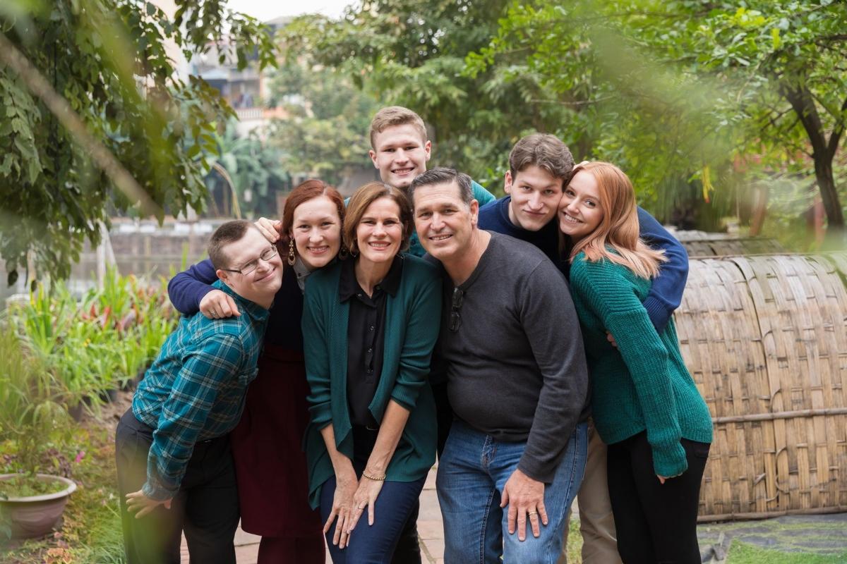 Gia đình Evan.