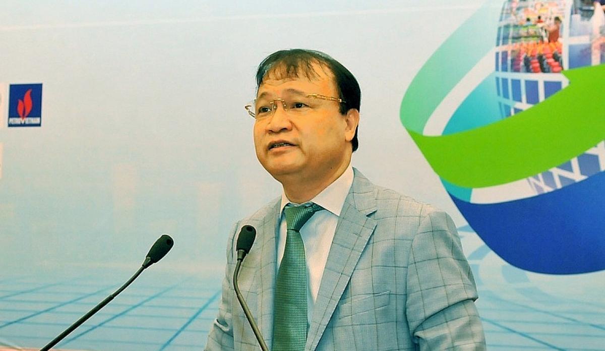 Thứ trưởng Bộ Công Thương - ông Đỗ Thắng Hải tại Diễn đàn Nâng cao sức cạnh tranh của hàng Việt trước thời cơ, thách thức từ các Hiệp định thương mại thế hệ mới.
