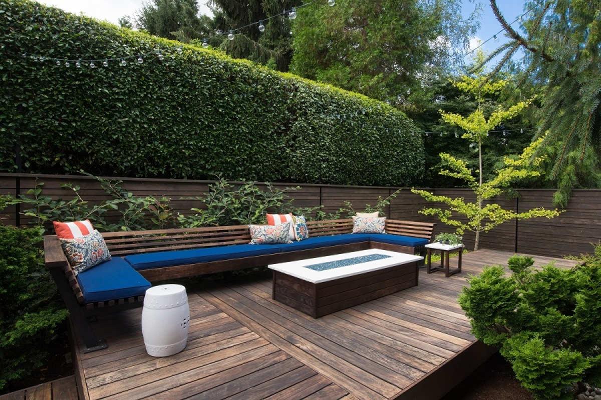 Sân vườn hiện đại ưu tiên sự tối giản.