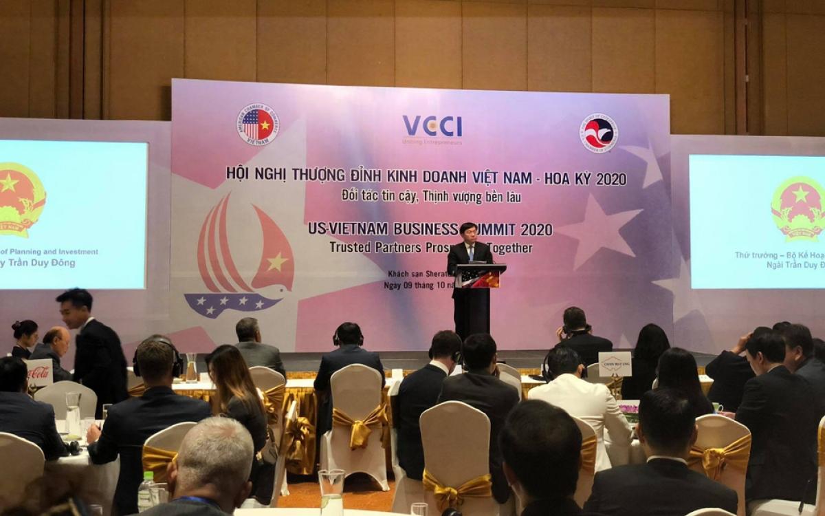 Hội nghị Thượng đỉnh Kinh doanh Việt Nam-Hoa Kỳ diễn ra tại Hà Nội, sáng nay (9/10).