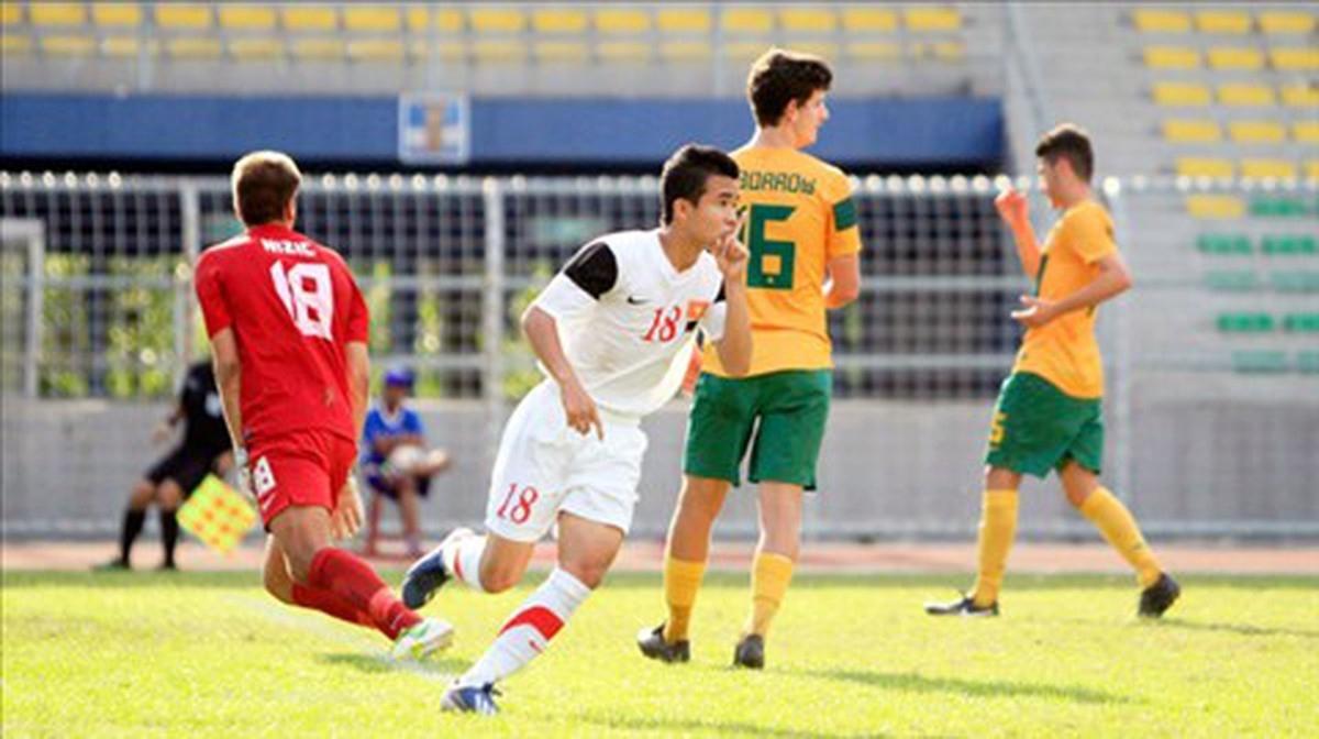 U19 Việt Nam lứa Công Phượng, Văn Toàn đã tạo nên chiến thắng ấn tượng trước U19 Australia ngày này 7 năm trước. (Ảnh: VFF).