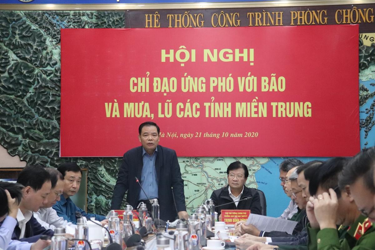 Bộ trưởng Bộ NN&PTNT Nguyễn Xuân Cường - Phó Trưởng BCĐ Trung ương về PCTT