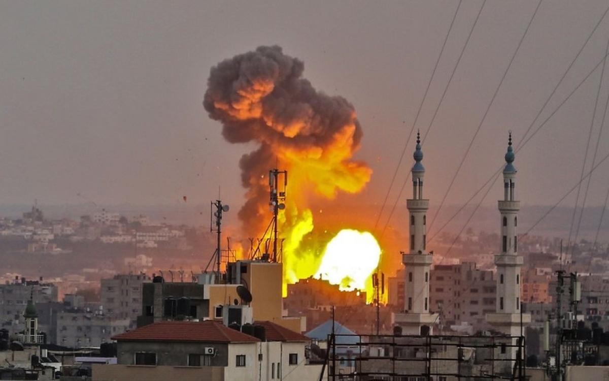 Israel không kích Gaza. Ảnh: BBC.