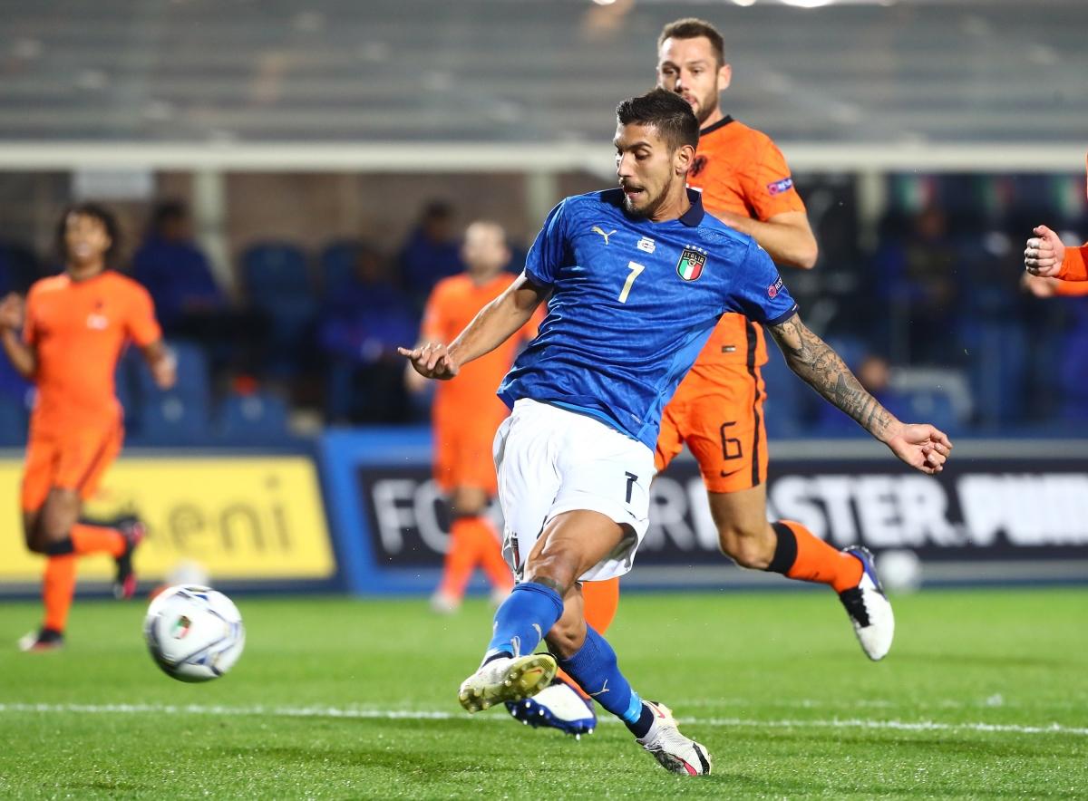 Pellegrini mở tỷ số cho Italia. (Ảnh: Getty)