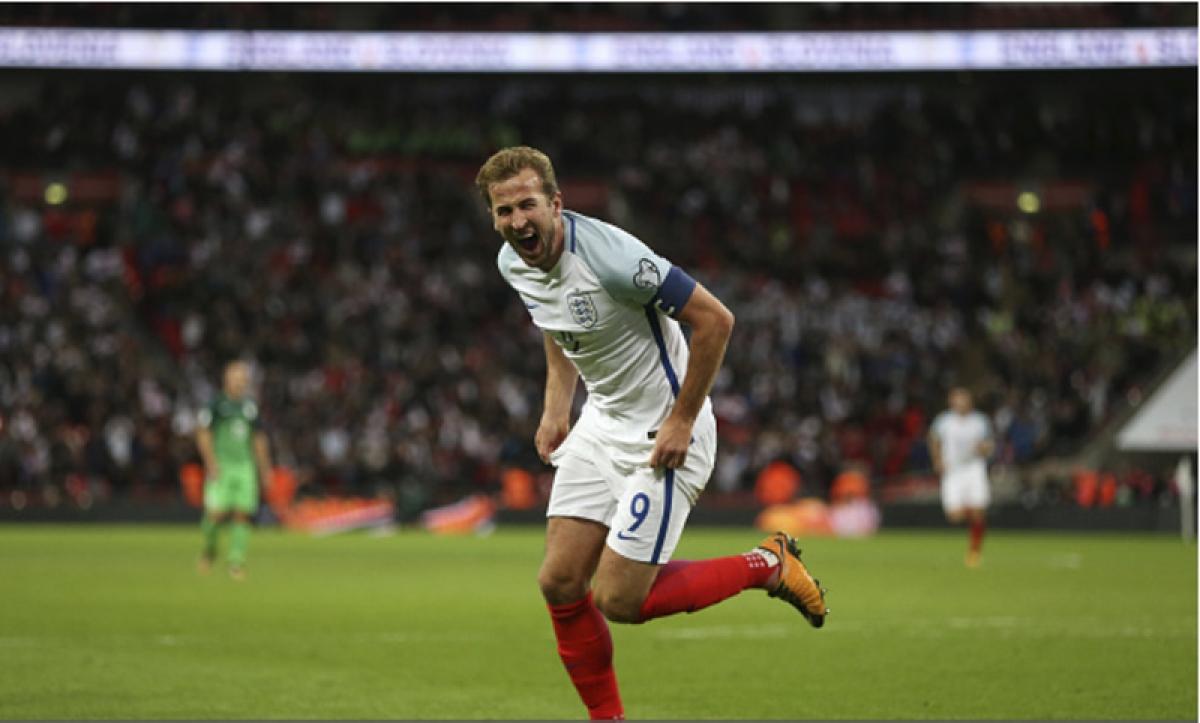 Ngày này 3 năm trước, Harry Kane ghi bàn đưa ĐT Anh đến với VCK World Cup 2018. (Ảnh: Getty).
