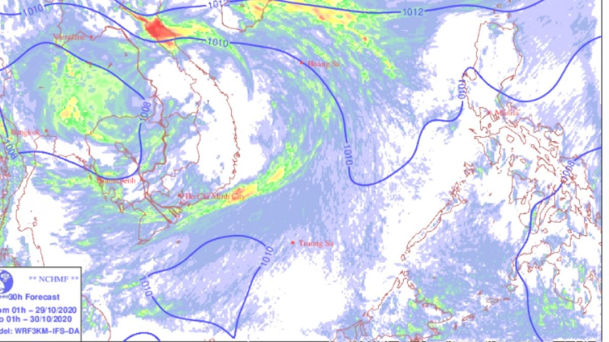 Không khí lạnh tăng cường và mưa lớn ở các tỉnh từ Thanh Hóa đến Bắc Tây Nguyên