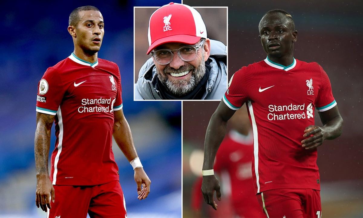 Liverpool chào đón sự trở lại của Thiago và Mane. (Ảnh: Daily Mail)
