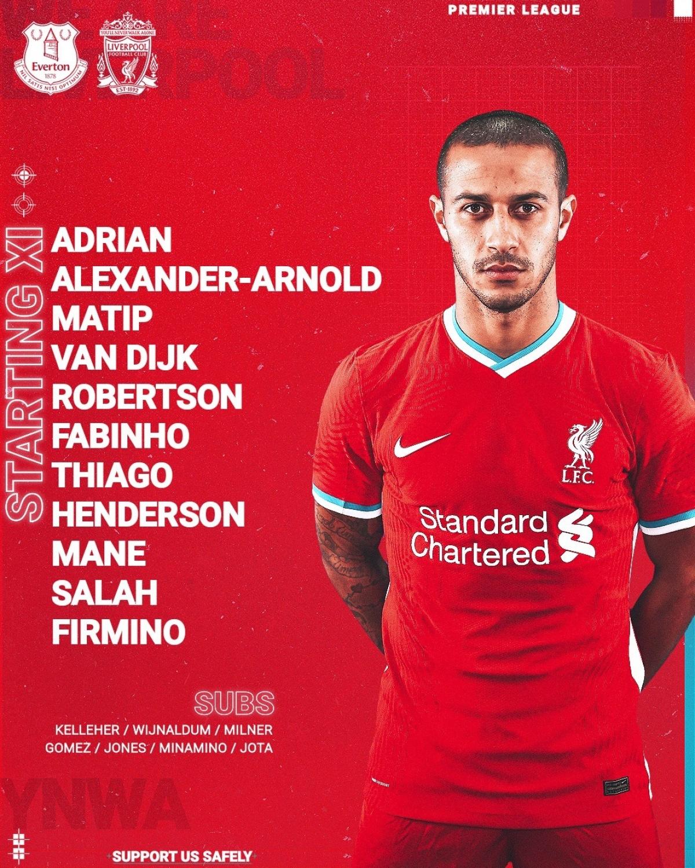 Đội hình xuất phát của Liverpool (Ảnh: LFC)