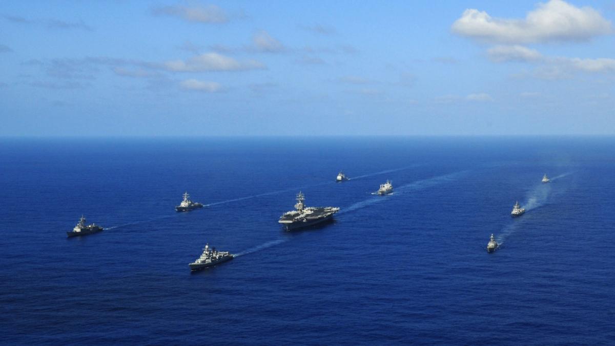 Tập trận hải quân Malabar 2020 sẽ diễn ra từ 3-6/11. Ảnh: South Asian Voices