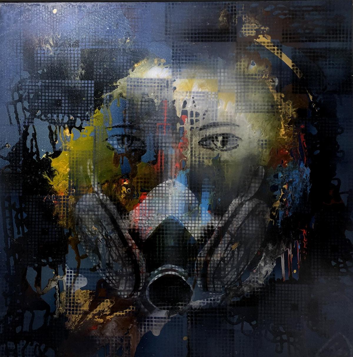 Mẹ trái đất (acrylic trên toan)