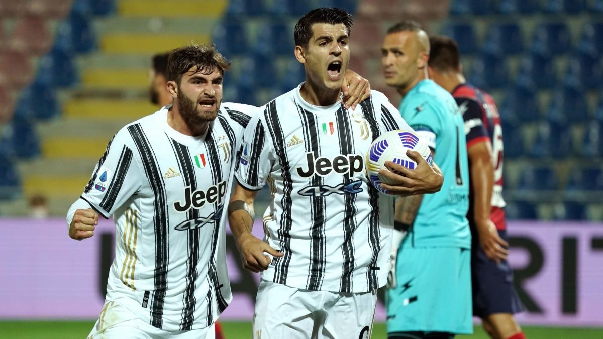 Bàn thắng của Morata là không đủ để giúp Juventus thắng Crotone. (Ảnh: Getty).