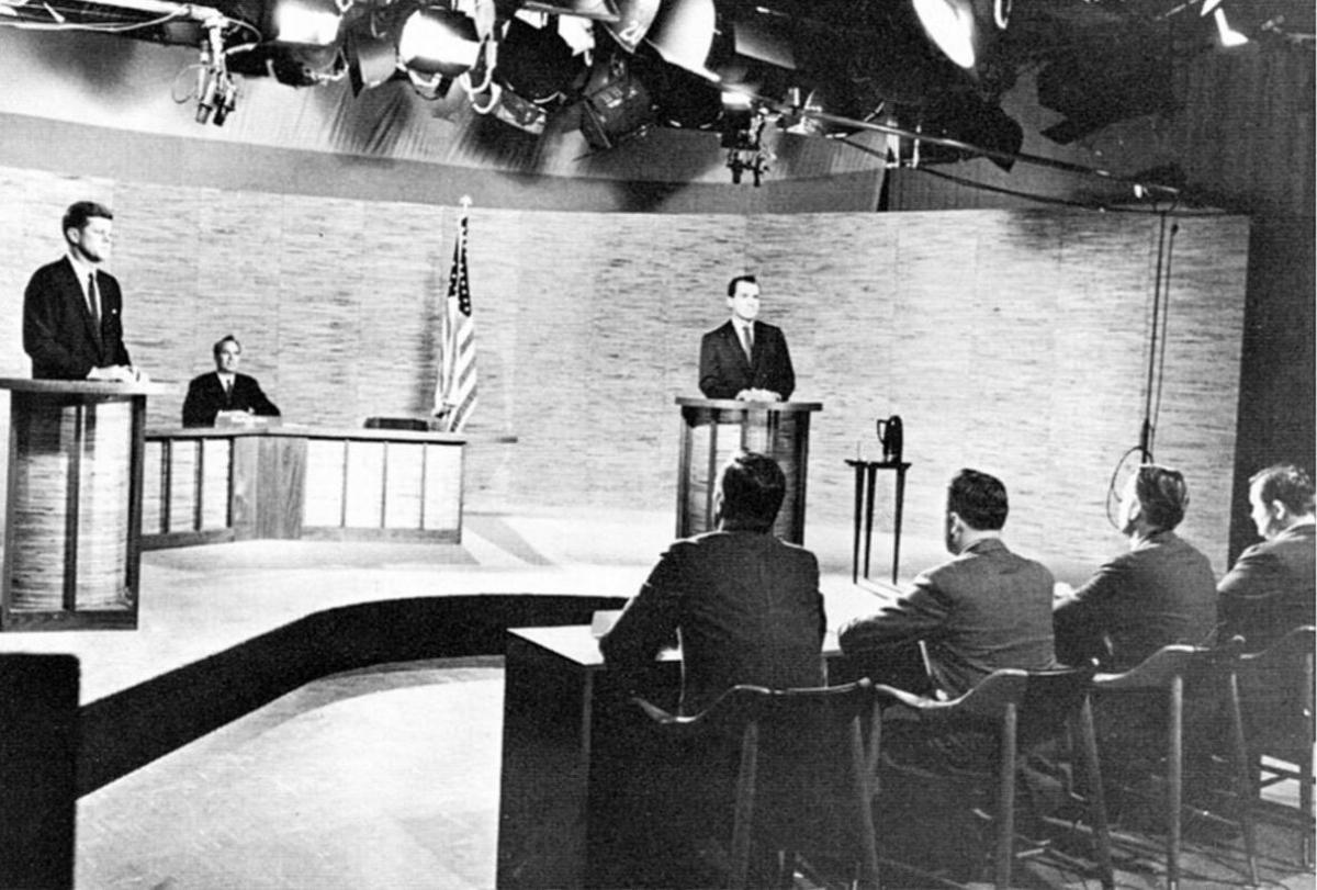 Tranh luận Kenedy-Nixon năm 1960. Ảnh: CCO