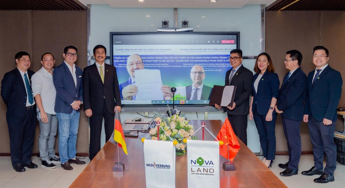 Sự kiện ký kết hợp tác giữa Novaland và tập đoàn y tế từ Đức, MediVerbund AG diễn ra hôm 9/10.