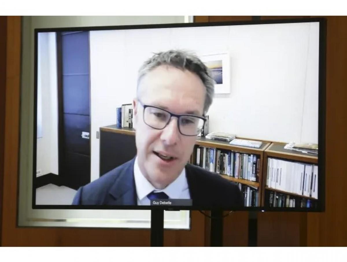 Ông Guy Debelle, Phó Thống đốc Ngân hàng Dự trữ Australia. (Ảnh: Alex Ellinghausen).