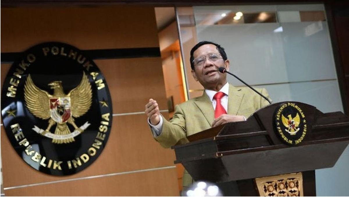 Bộ trưởng Điều phối các Vấn đề Chính trị, Pháp lý và An ninh Indonesia, ông Mahfud MD (Nguồn: Antara).