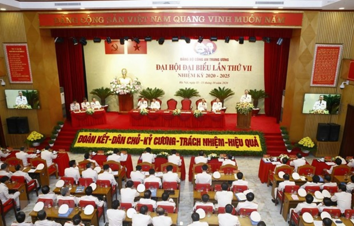 The seventh Congress of theCentral Public Security Party Organisationfor the 2020-2025 tenure opens in Hanoi on October 12 morning. (Photo: VNA)