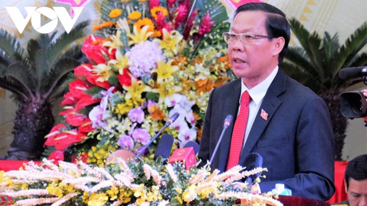 Ông Phan Văn Mãi tái đắc cử chức vụ Bí thư Tỉnh ủy nhiệm kỳ 2020-2025 (Ảnh: Phan Ánh)