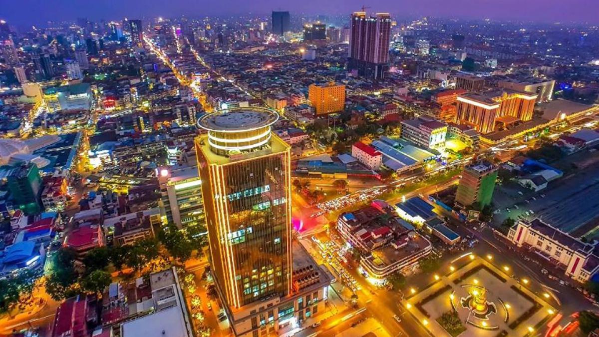 IMF năm 2021 Campuchia trở thành nền kinh tế phát triển nhanh thứ ba trong ASEAN. (Ảnh: KT)