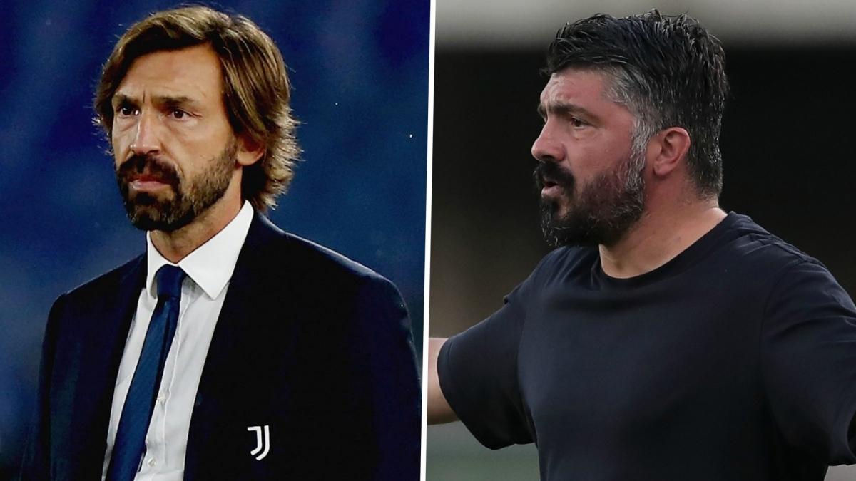Pirlo và Gatturo sẽ có màn so tài chiến thuật. (Ảnh: Goal)
